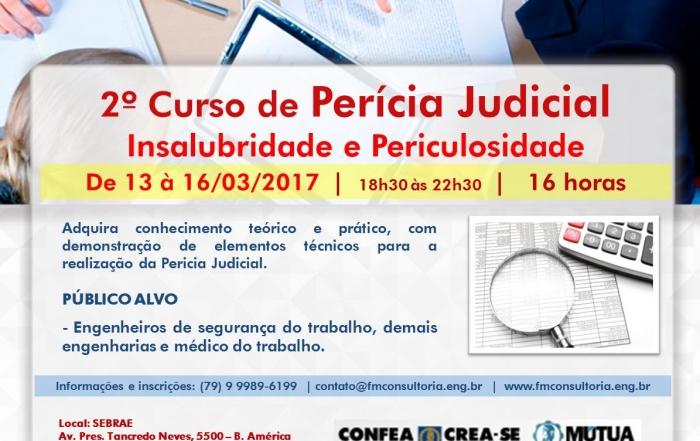 2º Curso de Perícia Judicial Insalubridade e Periculosidade aracaju